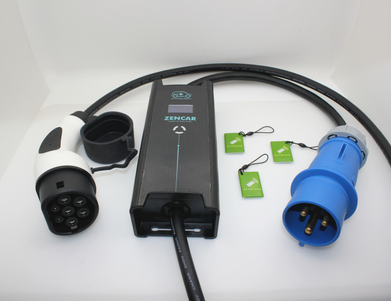 Portable EVSE 10A 16A type 2 3 pins cee
